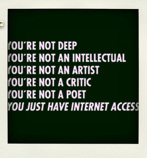 The Internet - Because all Users were not Created Equal
